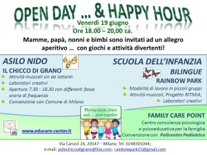 open day estivo con happy hour